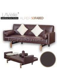 Alper PU Sofa Bed (Vintage Brown)