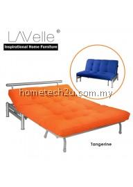 Zelmo Modern Queen Size Sofa Bed - Tangerine