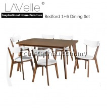 Bedford Wooden 7 Piece Dining Set
