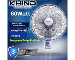 Khind Wall Fan WF1601 (3 Years Warranty) LIGHT Grey