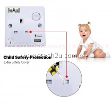 Wall Switch Socket With USB Outlet (Sirim Approved)