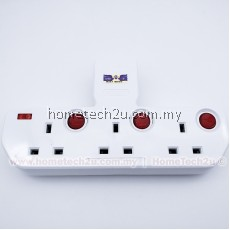 T WAY ADAPTOR ADAPORT MULTIPLE WALL SOCKET POWER OUTLET EXTENSION
