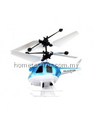 INDUCTION HELICOPTER RECHARGEABLE REMOTE CONTROL HELICOPTER CHILDREN TOYS (BLUE)