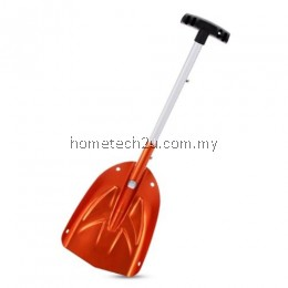 LS - 504 OUTDOOR FOLDABLE SNOW SHOVEL ALUMINUM HANDLE TOOL (ORANGE)
