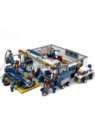 SLUBAN BUILDING AND CONSTRUCTION BLOCKS M38-B0356 F1 MAINTENANCE STATION CONSTRUCTION SET ( 741 PIE ) (COLORMIX)