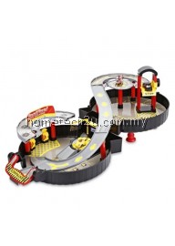 WY200 RACEWAY CAR PLAY SET PARKING TOYS MODEL BUILDING KITS (COLORMIX)