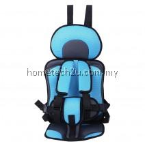 KIDS SAFETY THICKENING COTTON ADJUSTABLE CHILDREN CAR SEAT (LIGHT BLUE)