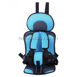 KIDS SAFETY THICKENING COTTON ADJUSTABLE CHILDREN CAR SEAT (LIGHT BLUE)