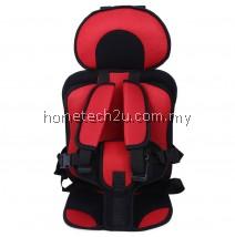 KIDS SAFETY THICKENING COTTON ADJUSTABLE CHILDREN CAR SEAT (RED)