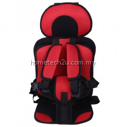KIDS SAFETY THICKENING COTTON ADJUSTABLE CHILDREN CAR SEAT (RED)