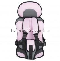 KIDS SAFETY THICKENING COTTON ADJUSTABLE CHILDREN CAR SEAT (PINK)