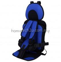 KIDS SAFETY THICKENING COTTON ADJUSTABLE CHILDREN CAR SEAT (BLUE)