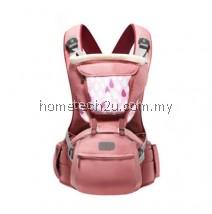 SUNVENO DESIGNER BABY CARRIER INFANT TODDLER FRONT FACING CARRIER SLING KIDS KANGAROO HIPSEAT BABY CARE 0-36MONTHS (PINK)