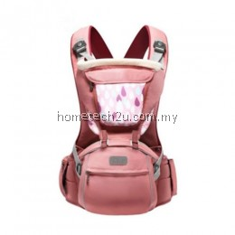 SUNVENO DESIGNER BABY CARRIER INFANT TODDLER FRONT FACING CARRIER SLING KIDS KANGAROO HIPSEAT BABY CARE 0-36MONTHS (PINK)