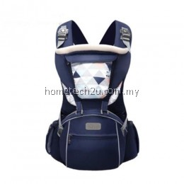 SUNVENO DESIGNER BABY CARRIER INFANT TODDLER FRONT FACING CARRIER SLING KIDS KANGAROO HIPSEAT BABY CARE 0-36MONTHS (NAVY BLUE)