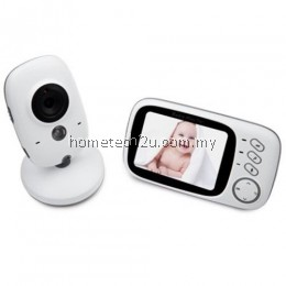 2.4GHZ 3.2INCH LCD DISPLAY WIRELESS VIDEO MONITOR WITH NIGHT VISION TEMPERATURE MONITORING FOR BABIES (WHITE)