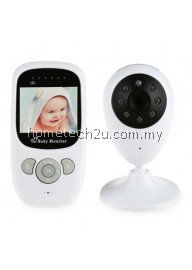 SP880 2.4G WIRELESS BABY VIDEO MONITOR WITH NIGHT VISION TWO-WAY TALK 2.4 INCH LCD DISPLAY TEMPERATURE MONITORING (WHITE)