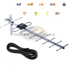 DIGITAL TV ANTENNA AERIAL free 5C CABLE 10 METER WATCH MYTV MYFREEVIEW