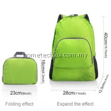 LIGHTWEIGHT PORTABLE BACKPACK FOLDABLE DURABLE TRAVEL HIKING BACKPACK DAYPACK FOR WOMEN/MEN(GREEN) LOAD 20L (GREEN)