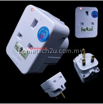 Eurosonic 13A 3 Three Way Adaptor With Neon (Sirim Approved)