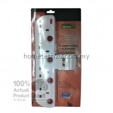4 WAY ADAPTOR ADAPORT MULTIPLE WALL SOCKET POWER OUTLET EXTENSION