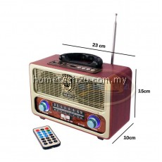 Vintage Retro Classic Radio Antique FM Radio with Bluetooth USB SD Card