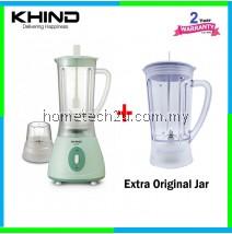 Khind Blender BL 1012 with Extra Original Jug (2 Big Jug + 1 Dry Mill)