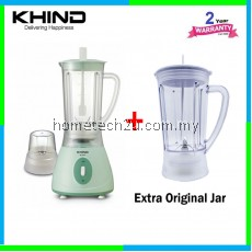 Khind Blender BL 1012 with Extra Original Jug (2 Big Jug + 1 Dry Mill)
