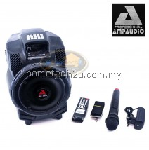 Ampaudio Portable Speaker PA System with Built in USB MP3 Player