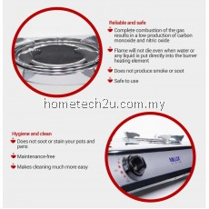 MILUX INFRARED GAS COOKER MSS-81221R (Gas & Time saving)