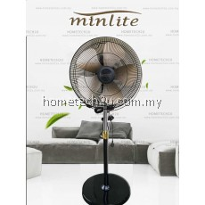 """Minlite 20"""" Elegant Luxury Commercial 5 Blades Stand Fan Cooling Strong Wind (Low Noise)"""