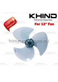 "KHIND ORIGINAL 12"" TABLE FAN BLADE REPLACEMENT PARTS"