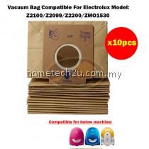 x10pcs OEM Electrolux Vacuum Dust Bag Compatible For Z2100 Z2099 Z2200 ZMO1530